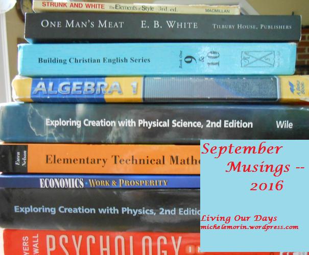 September Musings –2016