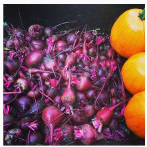 Beets and pumpkins