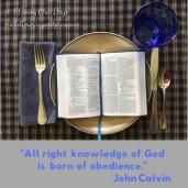 John Calvin, Obedience, Knowledge of God