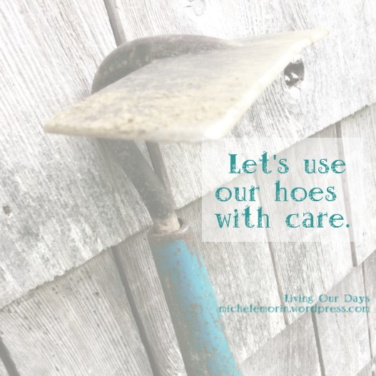 Let's use our hoes with care. Pay attention to the manner of change that's at work.