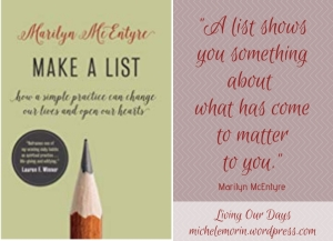 Review of Make a List by Marilyn McEntyre: Your New Life Beyond the To-Do List