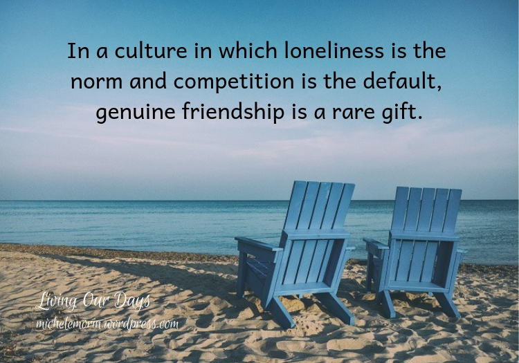 A partner in prayer, another set of eyes, a companion in trouble: these are the benefits of spiritual friendship.