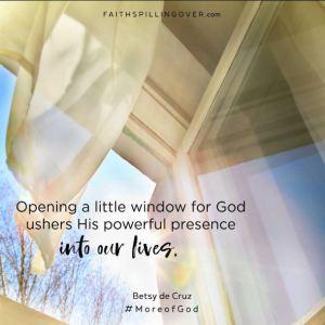 More of God by Betsy de Cruz