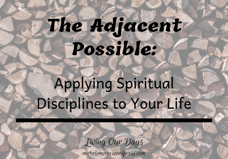 Make it your practice to begin working on your spiritual goals by addressing today's adjacent possible.