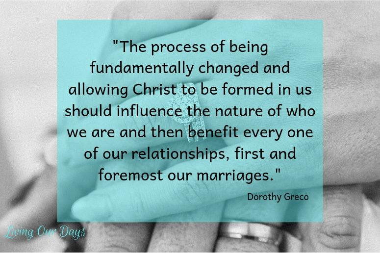 """As soon as the words """"I do"""" leave our lips, the process of radical transformation begins for both spouses."""