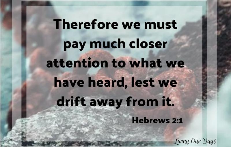 Sunday Scripture ~ Hebrews2:1