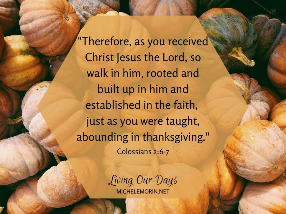 Come with me, this November, into a purposeful and intentional embrace of thanksgiving.