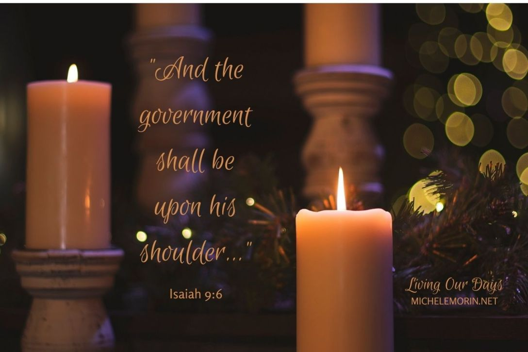 And the government shall be upon his shoulder... (Isaiah 9:6)