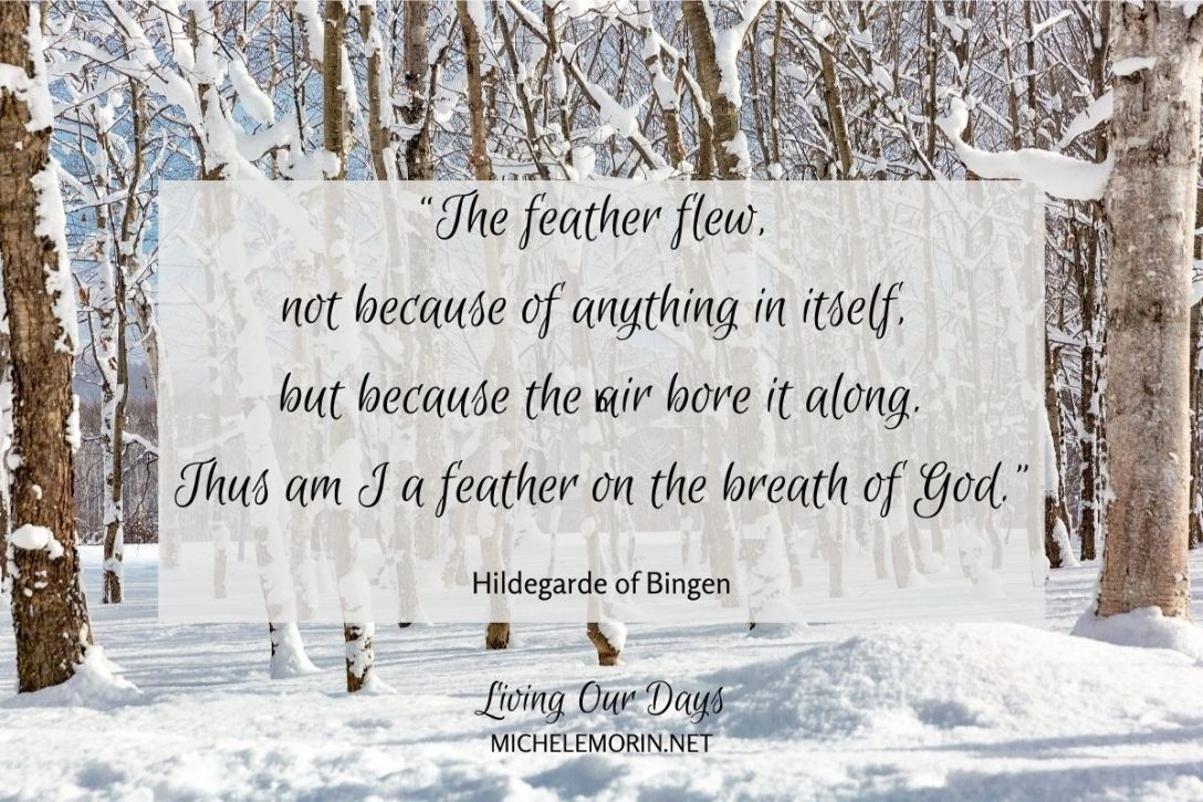 What keeps you from being a feather on the breath of God?