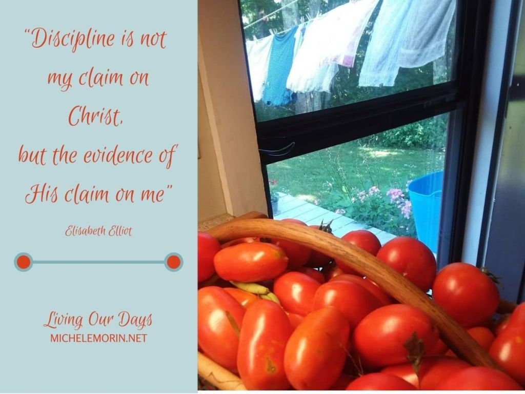 """""""Discipline is not my claim on Christ, but the evidence of His claim on me."""""""